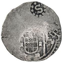 GOA: Pedro II, 1683-1706, AR xerafim (10.55g), 16(8)7. F