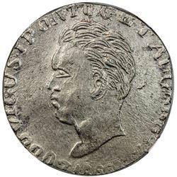 GOA: Luiz, 1861-1889, AR rupia, 1866. NGC UNC