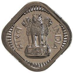 INDIA: Republic, 5 naya paise, 1962(b). NGC PF63