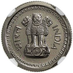 INDIA: Republic, 25 naye paise, 1962(b). NGC PF66