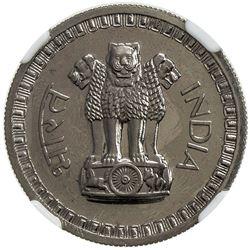 INDIA: Republic, 50 naye paise, 1962(b). NGC PF64