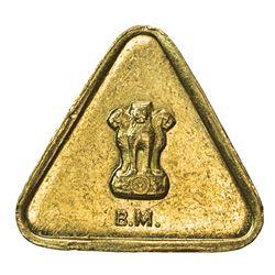 INDIA: Bombay mint, AV weight (3.00g), ND (circa 1950s). AU