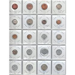INDIA: COLLECTION of 127 circulation coins of the Republic from 1950 to 2008