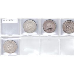 CHINA: LOT of 4 Republican silver dollars of Yuan Shi Kai