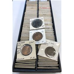 CHINA: LOT of 194 Chinese Imperial and Republican AE 10 cash coins