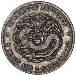 SZECHUAN: Kuang Hsu, 1985-1908, AR dollar, ND (1901-08). VF