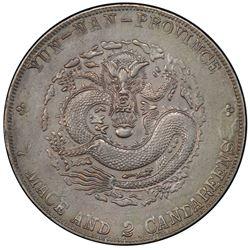 YUNNAN: Hsuan Tung, 1908-1911, AR dollar, ND (1909-11). PCGS AU