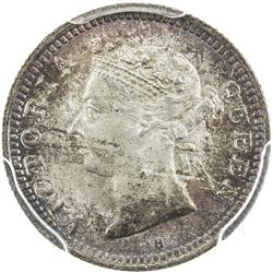 HONG KONG: Victoria, 1841-1901, AR 5 cents, 1900-H. PCGS MS66