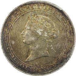 HONG KONG: Victoria, 1841-1901, AR dollar, 1866. PCGS AU50
