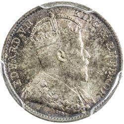 HONG KONG: Edward VII, 1901-1910, AR 5 cents, 1905-H. PCGS MS66