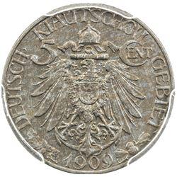 KIAUCHAU: William II, 1898-1914, 5 cents, 1909. PCGS UNC
