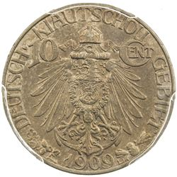 KIAUCHAU: William II, 1898-1914, 10 cents, 1909. PCGS AU