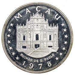 MACAO: Portuguese Colony, AR 100 patacas, 1978. PF
