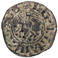 ARMENIA: Baronial, Levon II, 1187-1198, AE pogh (1.69g). VF