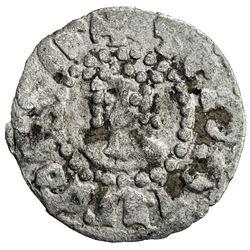 ARMENIA: Hetoum II, 1289-1305, BI denier (0.53g). VF