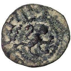 ARMENIA: Levon V, 1374-1375, AE pogh (0.78g). VF