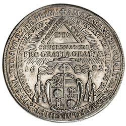 SALZBURG: Max Gandolph Graf Kuenburg, 1668-1687, AR 1/2 thaler, 1682. EF-AU