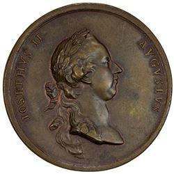 AUSTRIA: Joseph II, 1765-1790, AE medal (52.85g), 1769. EF