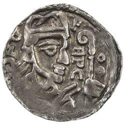 LIEGE: Rudolph of Zaeringen, 1167-1191, AR denier (0.85g), ND [ca. 1185]. EF