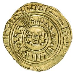 "CRUSADER KINGDOMS: Anonymous, ca. 1200-1260, AV dinar (4.01g), ""Misr"" ND. EF-AU"