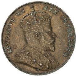 CYPRUS: Edward VII, 1901-1910, AE 1/2 piastre, 1908. EF
