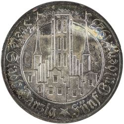 DANZIG: Free City, AR 5 gulden, 1923