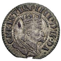 DENMARK: Christian IV, 1588-1648, BI sosling (0.92g), ND [1604]. EF