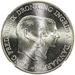 DENMARK: Frederick IX, 1947-1972, AR 2 kroner, 1953. NGC MS66