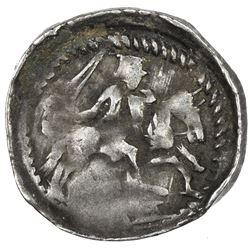 LORRAINE: Ferri III, 1251-1303, AR denier (0.63g), ND. VF