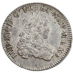 FRANCE: Louis XV, 1715-1774, AR 1/3 ecu (8.02g), 1722-V. VF-EF