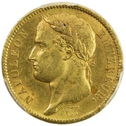 FRANCE: Napoleon I, Emperor, 1804-1815, AV 40 francs, 1811-A. PCGS MS62