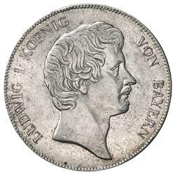 BAVARIA: Ludwig I, 1825-1848, AR thaler, 1837. EF-AU