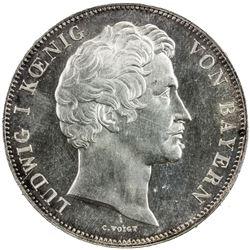 BAVARIA: Maximilian I, 1825-1848, AR double thaler, 1839. NGC MS63