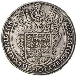 BRUNSWICK-WOLFENBUTTEL: August II, 1634-1666, AR thaler (28.92g), 1643. VF-EF