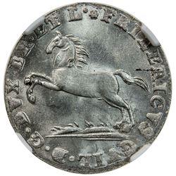 BRUNSWICK-WOLFENBUTTEL: Friedrich Wilhelm, 1813-1815, AR 1/24 thaler, 1815. NGC MS63
