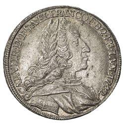 FRANKFURT: Free Imperial City, AR 2 ducat (4.58g), 1742. EF-AU