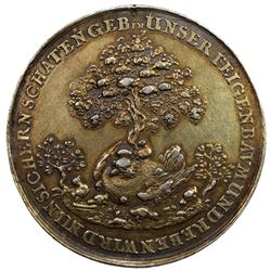 HAMBURG: Free and Hanseatic City, AR medal (30.41g), 1651. VF