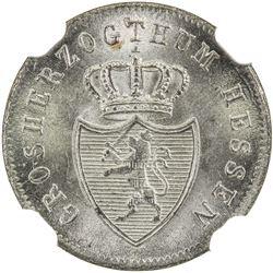 HESSE-DARMSTADT: Ludwig II, 1830-1848, BI kreuzer, 1835. NGC MS66