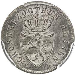 HESSE-DARMSTADT: Ludwig II, 1830-1848, AR kreuzer, 1836. PCGS MS66