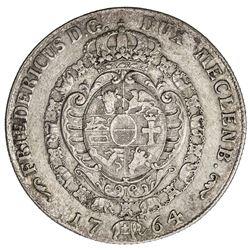 MECKLENBURG-SCHWERIN: Friedrich II, 1756-1785, AR 32 schilling (18.00g), 1764. VF