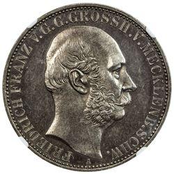 MECKLENBURG-SCHWERIN: Friedrich Franz II, 1842-1883, AR thaler, 1867-A. NGC MS62