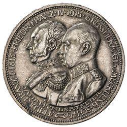 MECKLENBURG-SCHWERIN: Friedrich Franz IV, 1897-1918, AR 3 mark, 1915. UNC