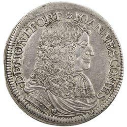MONTFORT: Johann VII, 1662-1686, AR 60 kreuzer (gulden) (19.15g), 1678. VF-EF
