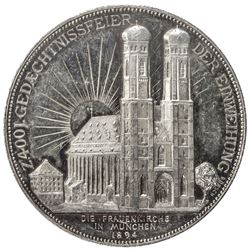 MUNICH: AR medal (29.23g), 1894. AU