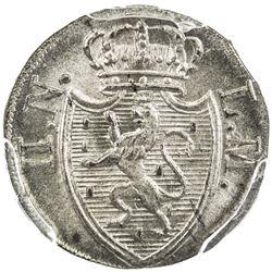 NASSAU: AR kreuzer, 1823. PCGS MS66