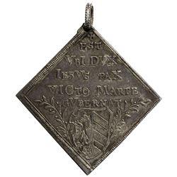 NUREMBERG: Free Imperial City, AR 3 ducat klippe (10.49g), 1648. EF