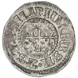 POMERANIA: Philipp Julius, 1592-1625, AR 1/24 thaler (1.92g), 1611. EF