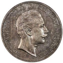 PRUSSIA: Wilhelm II, 1888-1918, AR 5 mark, 1908-A. NGC MS62