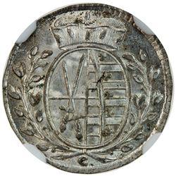 SAXONY: Frederick Augustus III, elector, 1763-1806, AR 1/48 thaler, 1765. NGC MS63