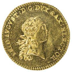 SAXONY: Frederick Augustus III, 1763-1806, AV ducat (3.47g), 1765. AU